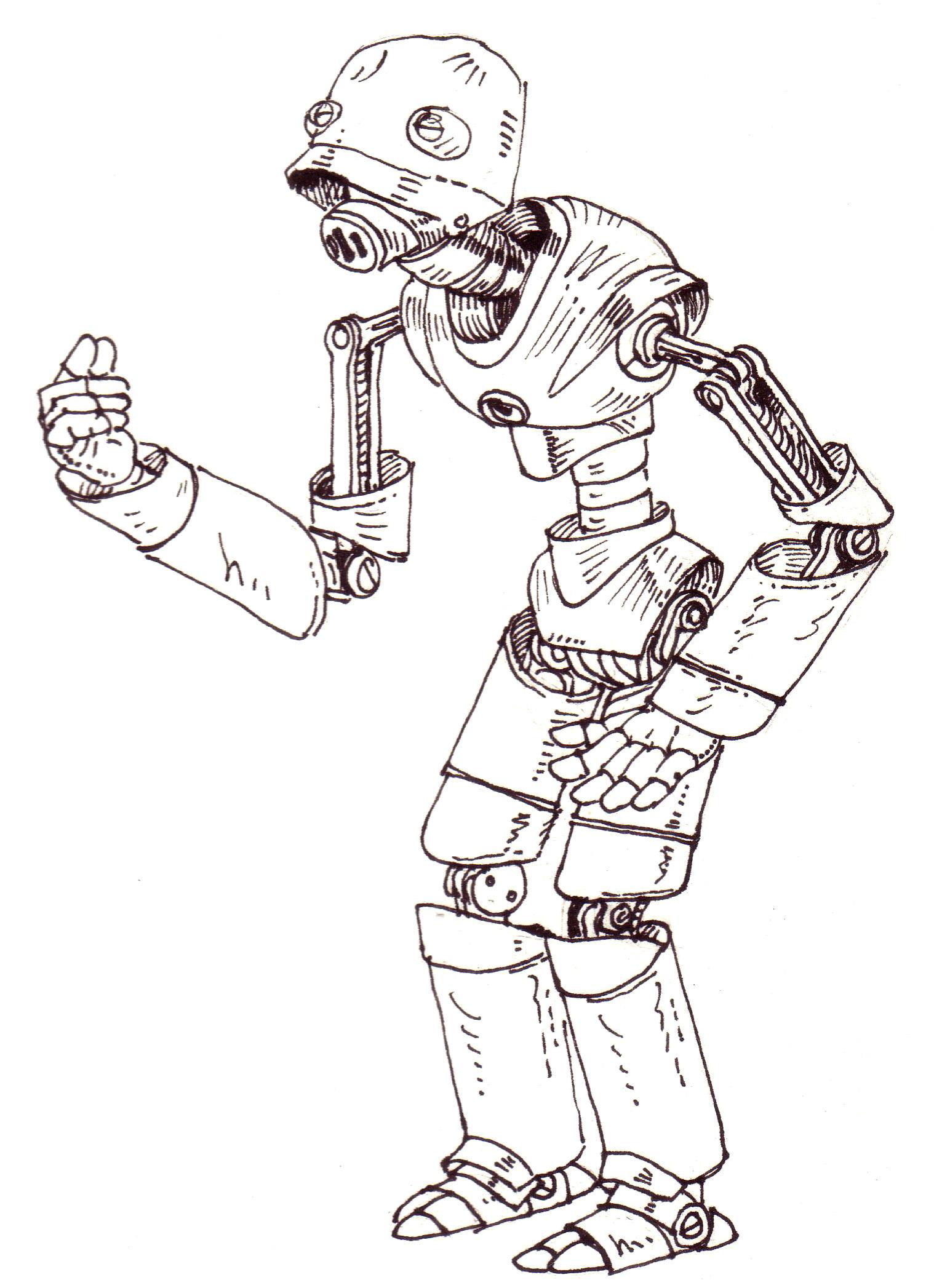 Tutoriel dessin robot - Comment dessiner ulysse ...